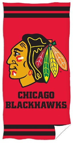 Osuška NHL Chicago Blackhawks 70x140 cm  <br>399 Kč/1 ks