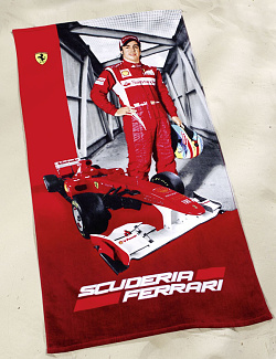 Osuška Ferrari Alonso Race Car 75x150 cm Red